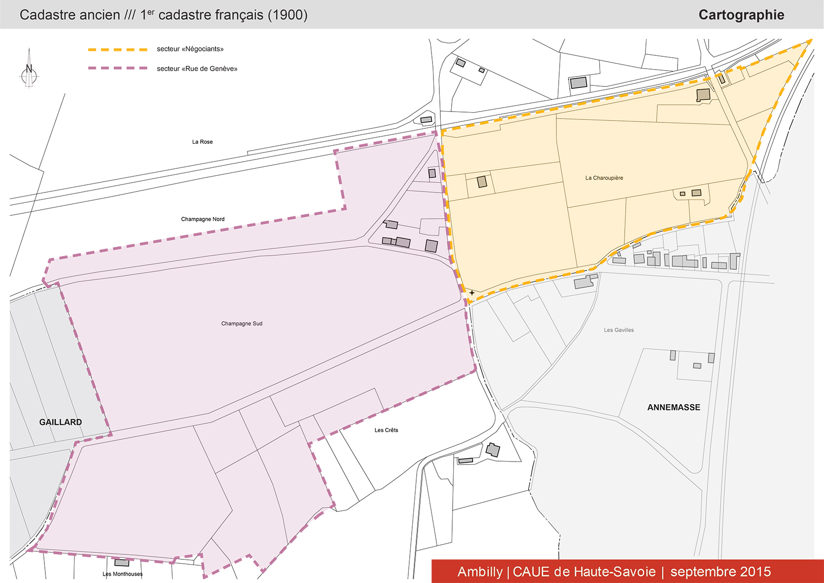 épure /// architecture & patrimoine | diagnostic patrimonial, architectural & paysager - secteurs «négociants» + «rue de Genève», Ambilly (Haute-Savoie)