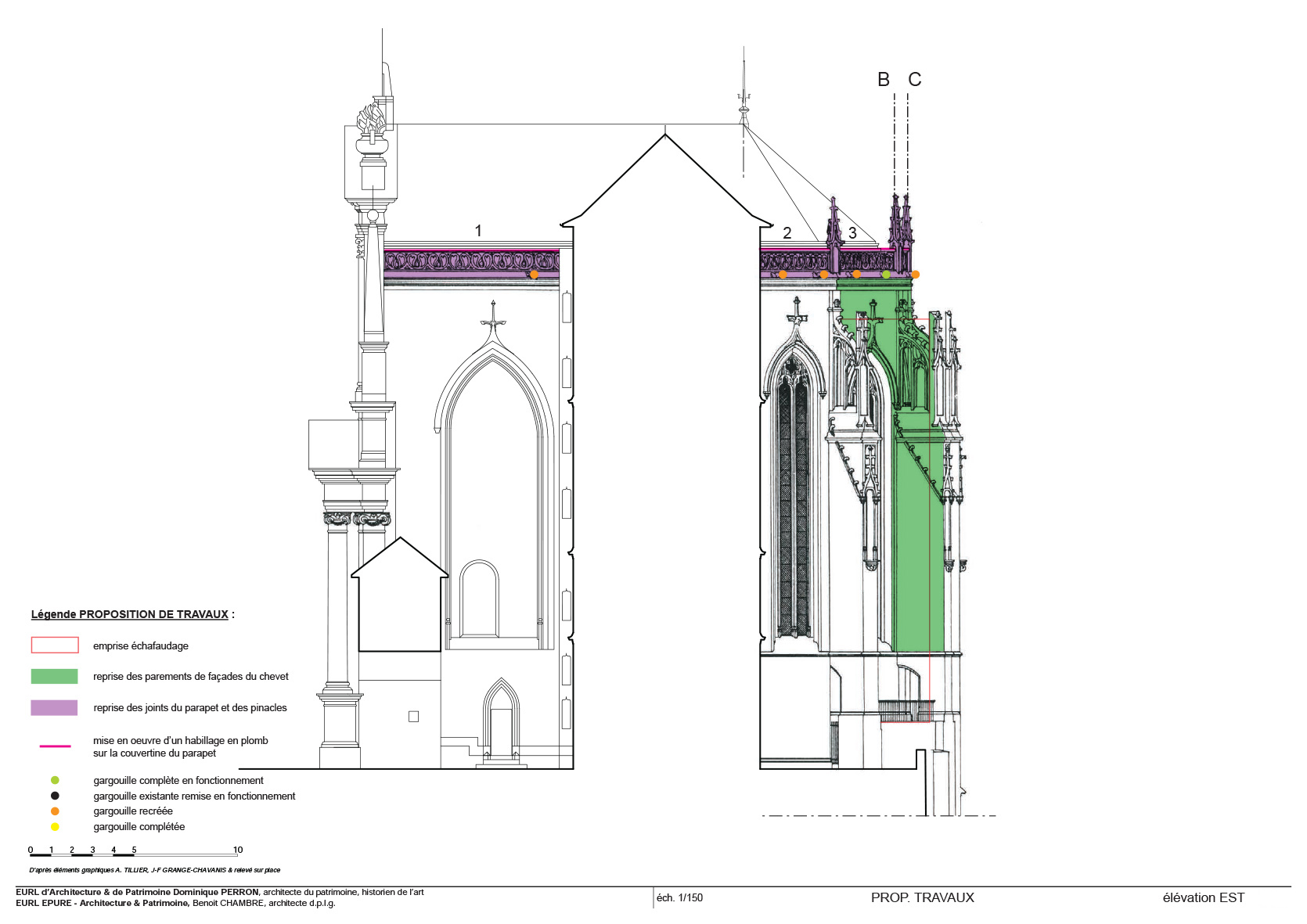 épure /// architecture & patrimoine | diagnostic de la Sainte-Chapelle du Château des Ducs de Savoie, Chambéry (Savoie)