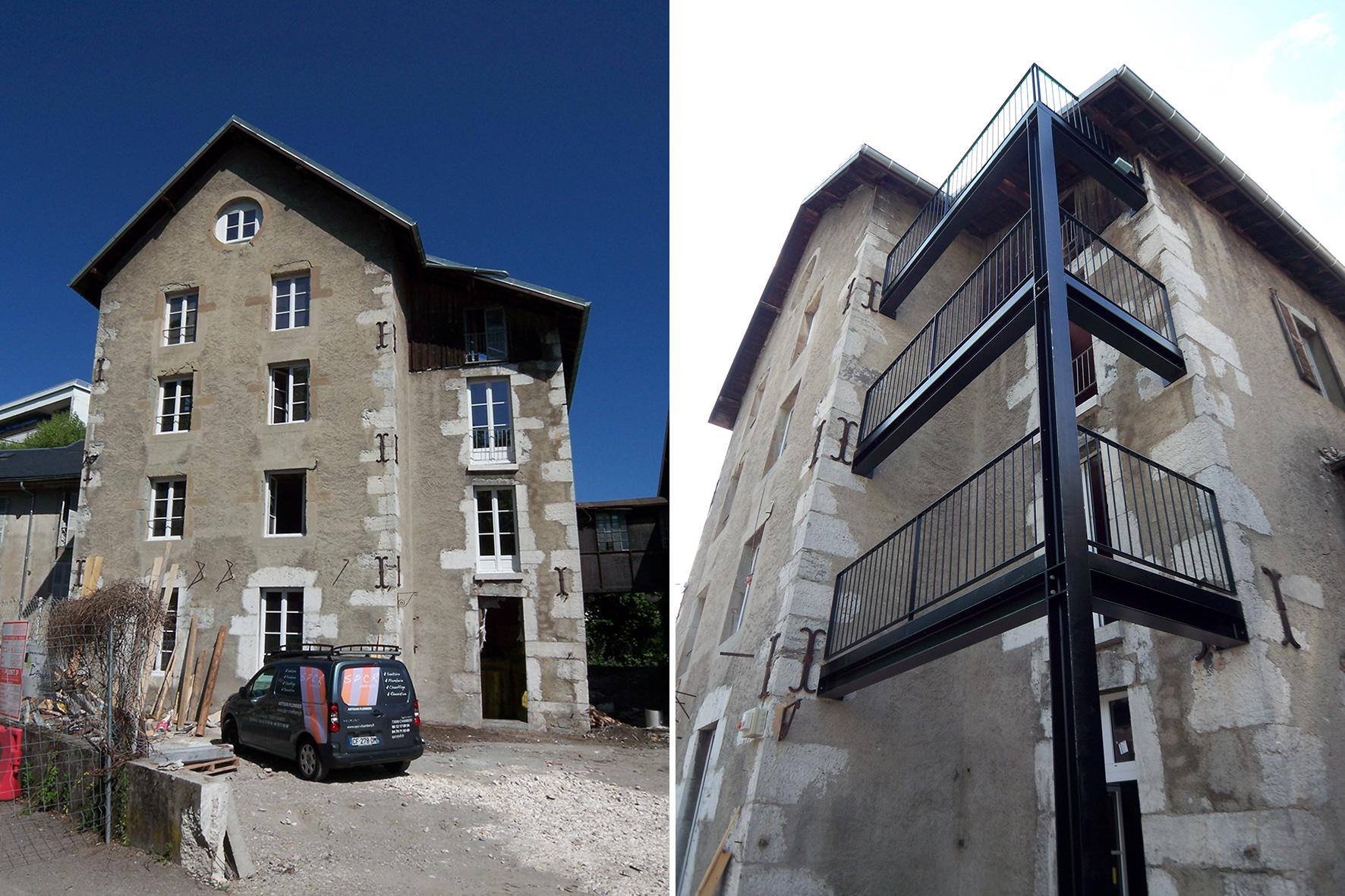 épure /// architecture & patrimoine | aménagement d'appartements dans un ancien moulin, Chambéry